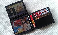 Кожаный бумажник без фиксатора,тонкий (Турция)