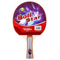 Ракетка для настольного тенниса (пинг понга) с чехлом Boli Star 9015