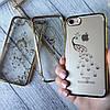 Силиконовый чехол с камнями по бамперу на iPhone 7 , фото 2
