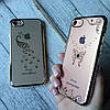Силиконовый чехол с камнями по бамперу на iPhone 7 , фото 3