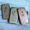 Силиконовый чехол с камнями по бамперу на iPhone 7 , фото 5
