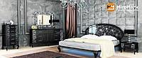 Спальня Піонія глянець чорний-срібло, фото 1