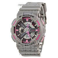 Необычные женские наручные часы Casio G-Shock AAA GA-110 Grey-Pink