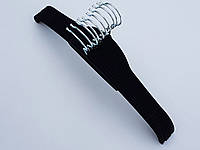 Плечики вешалки тремпеля флокированные (бархатные, велюровые) черного цвета, длина 42,5 см, в упаковке 10 штук