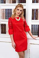 Элегантное женское красное  платье А14   44-48  размеры