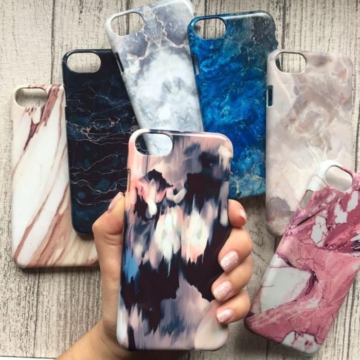 Чехол пластик мрамор для iPhone 8/8Plus