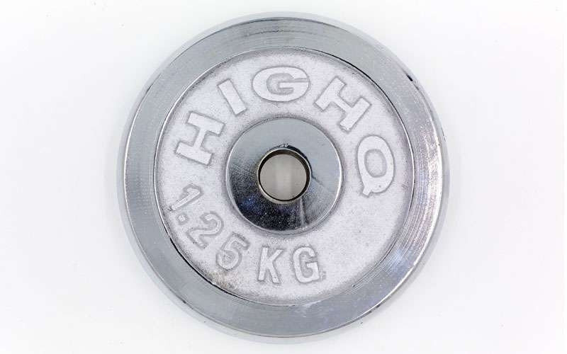 Блины для штанги хром 1,25 кг (d=30 мм). Суперцена!