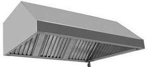 Зонт кухонный вытяжной пристенный трапецеидальный  350x600x800