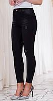 Эффектные облегающие женские джинсы со средней посадкой и потертостями Турция