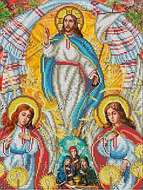 """Схема для вышивки бисером на габардине икона """"Воскресение Господа нашего Иисуса Христа"""""""