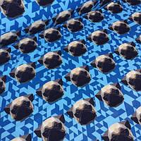 Футер с бульдоги на синей мозаике  №0026