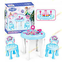 Детский столик, 2 стульчика, аксессуары. Набор 2 в 1 для девочек  901-348