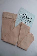 Колготки для фигурного катания матовые.В ботинок/На ботинок (Angel Италия) /50 den. Бело-розовые.