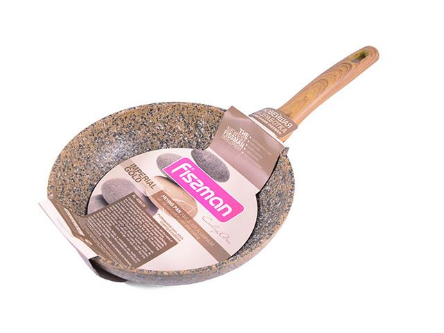 """Сковорода с антипригарным каменным покрытием 24х5.5см Fissman """"Imperial Gold"""" (AL-4359.24)"""