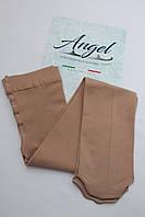 Колготки для фигурного катания матовые.В ботинок/На ботинок (Angel Италия) /100 den. Телесные.