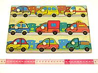 Рамки вкладыши Машинки Подбери Дверцу Розумний лис (90028), фото 1
