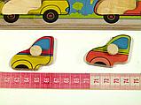 Дерев'яна рамка-вкладиш Монтессорі Машинки Підбери Дверцята Розумний лис (90028), фото 3