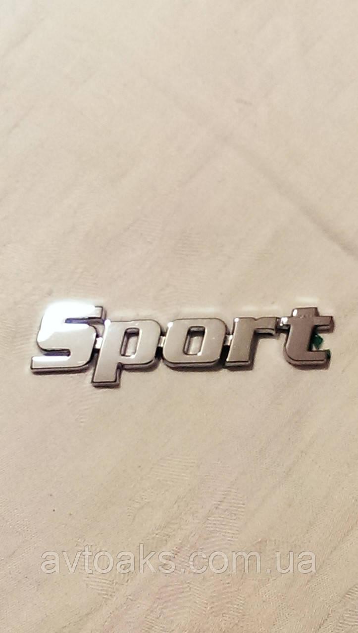 Наклейка Sport, объемная, хром