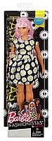 Кукла Барби, пышная (Curvy), из серии 'Мода' (Fashionistas), Barbie, Mattel FBR37 DVX70