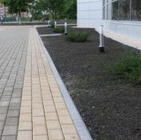 Тротуарная плитка Золотой Мандарин Кирпич стандартный 200х100х60 мм персиковый на белом цементе