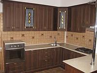 Кухня МДФ с витражами на заказ