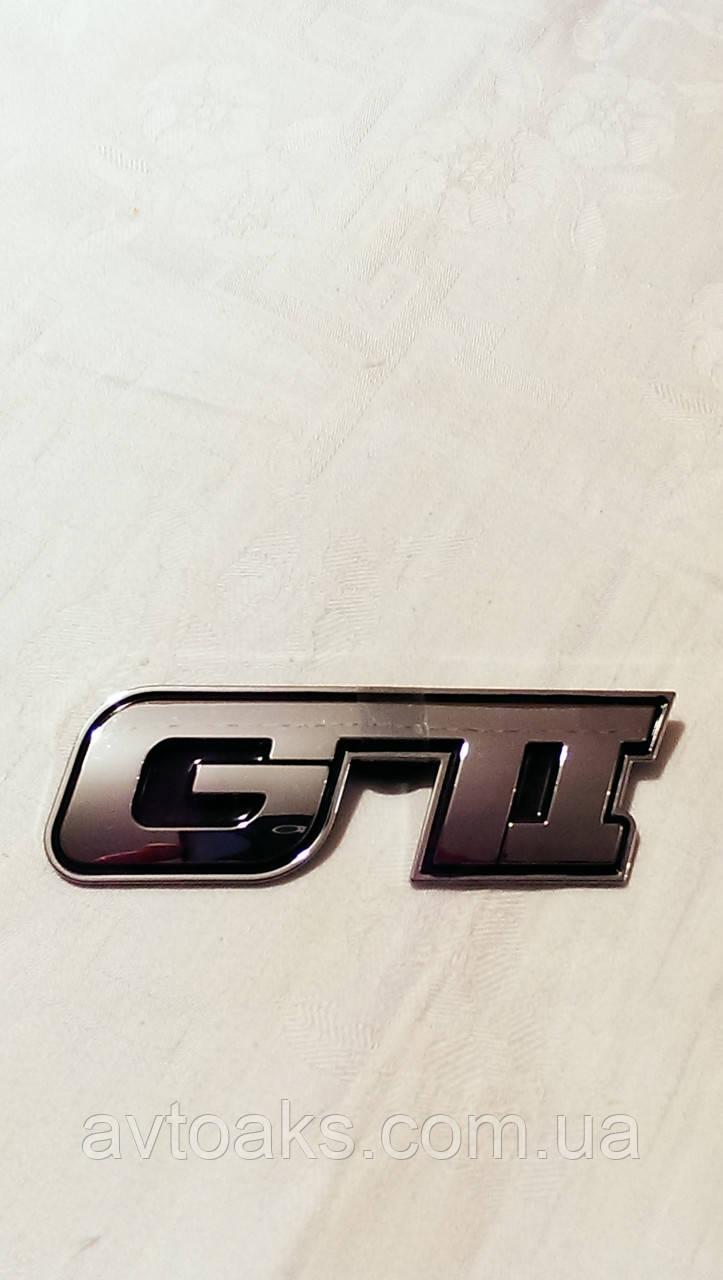 Наклейка GTI, объемная, хром