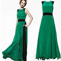 Женское летнее платье в пол без рукавов
