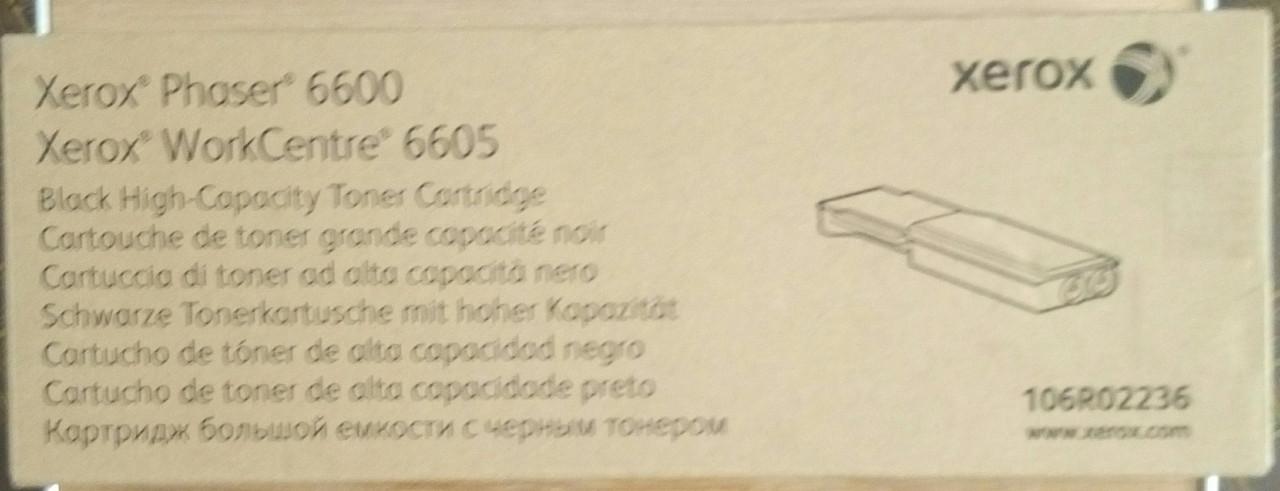 Тонер-картридж xerox phaser 6600, xerox WorkCentre 6605, 106R02236, (MAX), черный, Киев