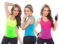 Майка для фитнеса и похудения HOT SHAPERS, спортивная майка женская, одежда для похудения с эффектом сауны