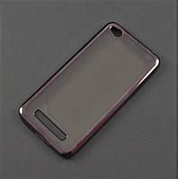 Чехол TPU для Xiaomi Redmi 4A прозрачный графитовый хром