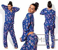 Пижама женская синяя UD/-06987
