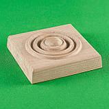 Деревянный декор для мебели. Розетки квадратные.Код Р17, фото 2