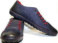 Спортивные туфли (лоферы) мужские Luciano Bellini 31503 осень/весна/лето синие, нубук