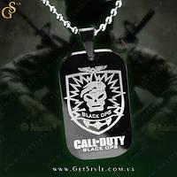 "Армейский жетон из титановой стали - ""Call of Duty"", фото 1"