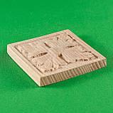 Деревянные резной накладки для мебели. Розетка мебельная. Код Р20, фото 4