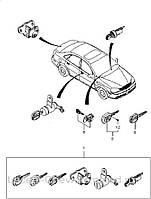 Комплект замков (личинки) Chevrolet Lacetti - личинки замков дверей, багажника и замка зажигания в сб