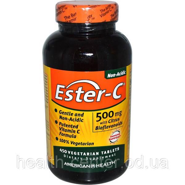 Витамин С нейтральный Ester-C с биофлавоноидами 500 мг 450 таб для иммунитета American Health USA