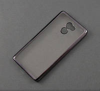Чехол TPU Remax для Xiaomi Redmi 4 прозрачный графитовый хром