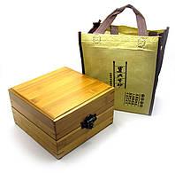 Чайный набор в бамбуковом футляре (19х19х10,5 см)