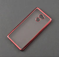 Чехол TPU Remax для Xiaomi Redmi 4 прозрачный золотистый хром