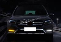 DRL штатные дневные ходовые огни LED- DRL для Mercedes GLC X205 2015+