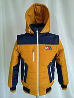 Демисезонная куртка-жилетка для мальчика, рост 122 - 164