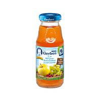 Сок яблочно-виноградный с шиповником осветленный, 175 мл 12168038 ТМ: Gerber