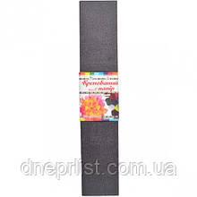 Гофрированная бумага (креп), серая