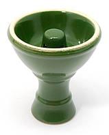 Чашка керамическая для кальяна зеленая (d-7,h-8 см внутренний диаметр 30 мм)