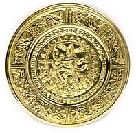 "Тарелка настенная бронзовая ""Танцующий Шива"" (d-18,5 см)(Wall Plate Natraj 8"")"