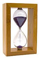 Часы песочные в бамбуке (10 мин)(20х12,5х6 см)