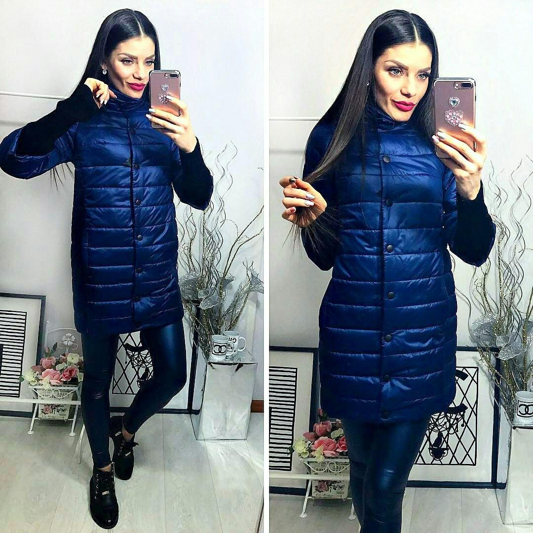 Куртка удлиненная, модель 218, синий