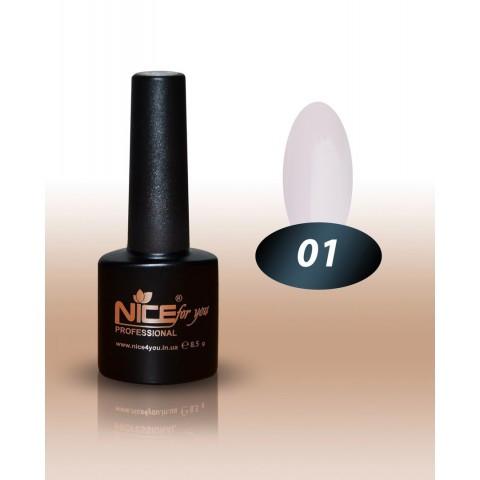 Гель-лак Nice For You № 01 (белый, эмаль) 8.5 мл