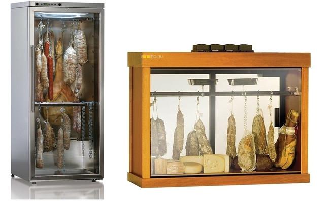 Шкафы ферментационные, для хранения сыра и салями